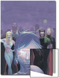 House Of M No.5 Cover: Miller, Layla, Wolverine and Emma Frost Flying Poster by Esad Ribic
