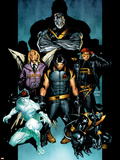 Ultimate X-Men No.61 Cover: Wolverine, Colossus, Nightcrawler, Iceman, Cyclops, Angel and X-Men Wall Decal by Stuart Immonen