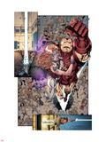 Iron Age No.3: Iron Man and Dazzler Flying Wall Decal by Todd Nauck