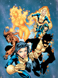 New Mutants No.13 Cover: Sunspot, Wolfsbane, Cannonball, Karma, Wind Dancer and New Mutants Plastic Sign by Randy Green