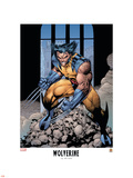 Wolverine Lithograph: Wolverine Plastic Sign by Jim Lee