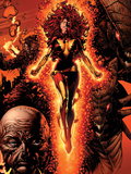 X-Men: Legacy No.211 Cover: Dark Phoenix, Brood, Nova and Cassandra Plastic Sign by David Finch
