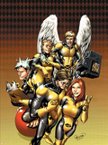 X-Men: First Class No.12 Cover: Cyclops, Marvel Girl, Iceman, Angel and Beast Plastic Sign by Carlo Pagulayan