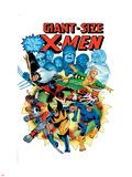 Giant-Size X-Men No.3 Cover: Wolverine, Cyclops, Nightcrawler and Sunfire Charging Znaki plastikowe autor Dave Cockrum