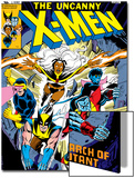 Dave Cockrum - Uncanny X-Men No.126 Cover: Wolverine, Colossus, Storm, Cyclops, Nightcrawler and X-Men Fighting Reprodukce