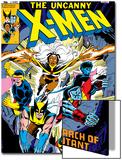 Uncanny X-Men No.126 Cover: Wolverine, Colossus, Storm, Cyclops, Nightcrawler and X-Men Fighting Sztuka autor Dave Cockrum