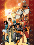 Ultimate X-Men No.84 Cover: Wolverine, Bishop, Angel, Storm, Pyro, Dazzler and Psylocke Wall Decal by Yanick Paquette