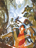 X-Men: First Class No.2 Cover: Cyclops, Beast, Marvel Girl, Iceman and Angel Plastic Sign by Eric Nguyen