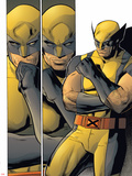 X-Men: Prelude To Schism No.4: Panels with Wolverine in Thought Plastic Sign by Clay Mann