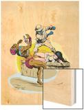 Classic X-Men No.23 Cover: Nightcrawler Wood Print by John Bolton