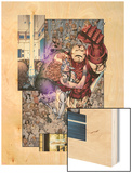 Iron Age No.3: Iron Man and Dazzler Flying Wood Print by Todd Nauck