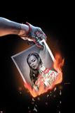 X-Factor 261 Cover: St. Croix, Monet Plastic Sign by David Yardin