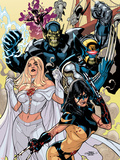 Secret Invasion: X-Men No.1 Cover: X-23 and Emma Frost Plastic Sign by Terry Dodson