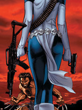 Wolverine No.64 Cover: Wolverine and Mystique Plastic Sign by Ron Garney