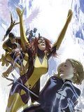 X-Men: First Class No.1 Cover: Invisible Woman, Cyclops, Marvel Girl, Beast, Angel and Iceman Posters