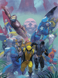 Secrets Of The House Of M Cover: Wolverine Plastic Sign by Esad Ribic
