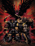 X-Force No.16 Cover: Wolverine, X-23, Cable, Warpath, Apocalypse and Archangel Wall Decal by Kaare Andrews