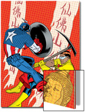 X-Statix No.22 Cover: Captain America and The Anarchist Fighting and Shooting Posters by Michael Allred