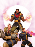 X-Men: The Times and Life of Lucas Bishop No.3 Cover: Cable, Cyclops and Bishop Plastic Sign by Ariel Olivetti