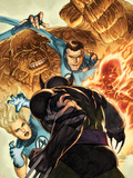 Dark Wolverine No.76 Cover: Invisible Woman, Thing, Mr. Fantastic and Human Torch Fighting Plastic Sign by Mico Suayan