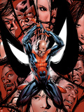 House Of M No.5 Cover: Spider-Man, Peter Parker, Charging Plastic Sign by Mike McKone