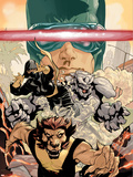 Young X-Men No.3 Cover: Cyclops, Rockslide and Dust Plastic Sign by Terry Dodson