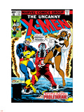 Dave Cockrum - Uncanny X-Men No.124 Cover: Storm, Colossus and Cyclops Plastové cedule