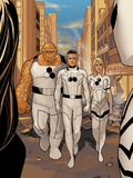 X-23 No.13: Mr. Fantastic, Invisible Woman, and Thing Walking Prints by Phil Noto