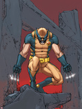 X-Men: Prelude To Schism No.4 Cover: Wolverine Crouching Plastic Sign by Giuseppe Camuncoli