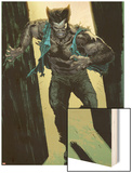 Wolverine No.13: Logan Running Wood Print by Renato Guedes
