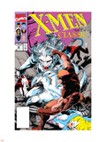 X-Men Classic No.46 Cover: Wendigo, Wolverine and Nightcrawler Plastic Sign by Steve Lightle