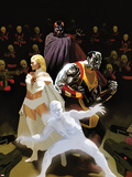 X-Men: Schism No.3 Cover: Iceman, Colossus, Magneto, and Emma Frost Plastic Sign by Daniel Acuna