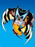 Wolverine No.2 Cover: Wolverine Fighting Kunststof bord van Frank Miller