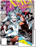 X-Men Classic No.46 Cover: Wendigo, Wolverine and Nightcrawler Art by Steve Lightle