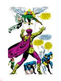 X-Men No.50 Group: Mesmero, Angel, Cyclops, Iceman, Beast, X-Men and Marvel Girl Plastic Sign by Jim Steranko