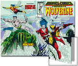 Marvel Comics Presents No.7 Cover: Spider-Man, Vulture and Kraven the Hunter Swimming Posters by John Buscema
