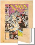 X-Men Classic No.46 Cover: Wendigo, Wolverine and Nightcrawler Wood Print by Steve Lightle