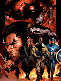 Ultimate Nightmare No.1 Cover: Nick Fury, Captain America, Wolverine and Colossus Wall Decal by Trevor Hairsine