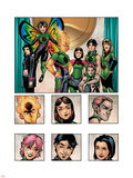 New X-Men: Academy X Yearbook Group: Pixie, Match, Trance, Wolf Cub, D.J., Preview and Paragons Plastic Sign by Georges Jeanty