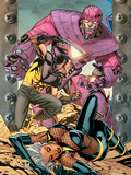 Ultimate X-Men No.85 Cover: Storm, Wolverine and Sentinel Plastic Sign by Yanick Paquette