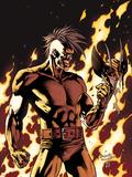 Dark Wolverine No.90 Cover: Darken in Flames Plastic Sign by Yanick Paquette