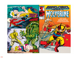 Marvel Comics Presents No.5 Cover: Wolverine, Inquisitor, Marvel Comics and Thor Charging Wall Decal by John Buscema