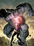 Ultimate X No.5 Cover: Jean Grey and Hulk Fighting Plastic Sign by Arthur Adams