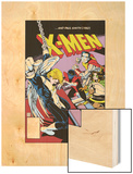Classic X-Men No.24: Storm, Angel, Shadowcat and Colossus Wood Print by Paul Smith