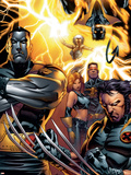 Ultimate X-Men No.50 Cover: Colossus, Wolverine, Nightcrawler, Grey, Jean, Cyclops, Storm and X-Men Plastic Sign by Andy Kubert
