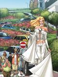 X-Men: Manifest Destiny No.2 Cover: Emma Frost Plastskilt av Humberto Ramos