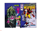 Marvel Comics Presents No.10 Cover: Wolverine, Colossus, and Spider-Man Jumping Wall Decal by John Buscema