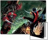 Amazing X-Men 1 Cover: Nightcrawler, Azazel, Storm, Northstar, Firestar, Wolverine, Iceman, Beast Poster by Ed McGuinness