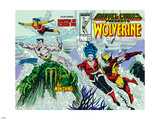 Marvel Comics Presents No.7 Cover: Spider-Man, Vulture and Kraven the Hunter Swimming Wall Decal by John Buscema