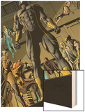X-Men: Prelude to Schism No.3: Cyclops Standing with Others Behind Him Wood Print by Will Conrad